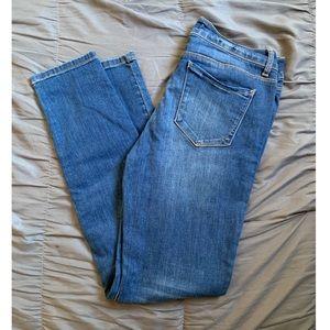 WAX Jean Blue Mid Rise Medium Wash Skinny jeans